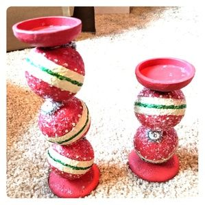 Ornament Candle Stands.